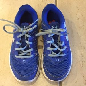 Under Armour girls blue sneakers size 1